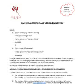 Agreement for occasional jobs with associations (NL)