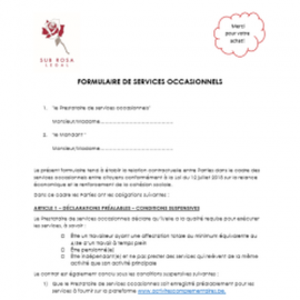 Form for occasional jobs between individuals (FR)