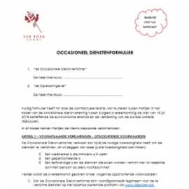 Form for occasional jobs between individuals (NL)