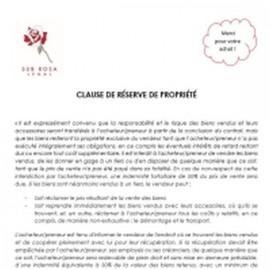 Clause de réserve de propriété (FR)