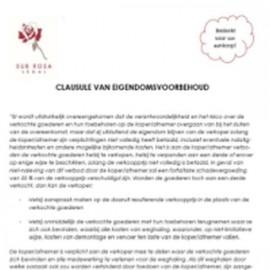Clause de réserve de propriété (NL)