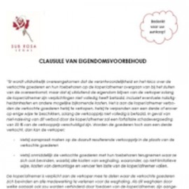 Retention of title clause (NL)