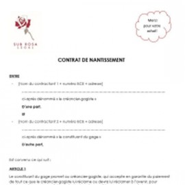 Contrat de gage (FR)