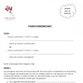 Contrat de gage - B2C (NL)