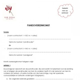 Pledge agreement - B2C (NL)