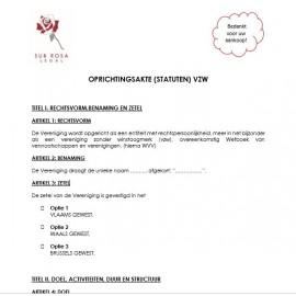 Statuten/Oprichtingsakte VZW (NL)