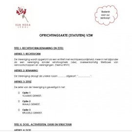 Statutes/Constituting act ASBL (NL)