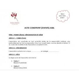 Statuten/Oprichtingsakte VZW (FR)