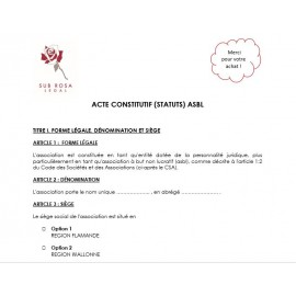 Statutes/Constituting act ASBL (FR)