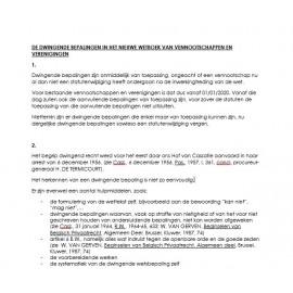 Dwingende bepalingen Wetboek van venootschappen (NL)