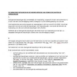 Dwingende bepalingen wetboek van vennootschapen (FR)