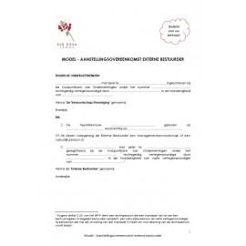 Aanstellingsovereenkomst externe bestuurder