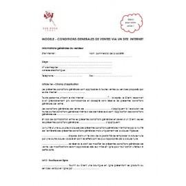 Conditions générales de vente via un site internet